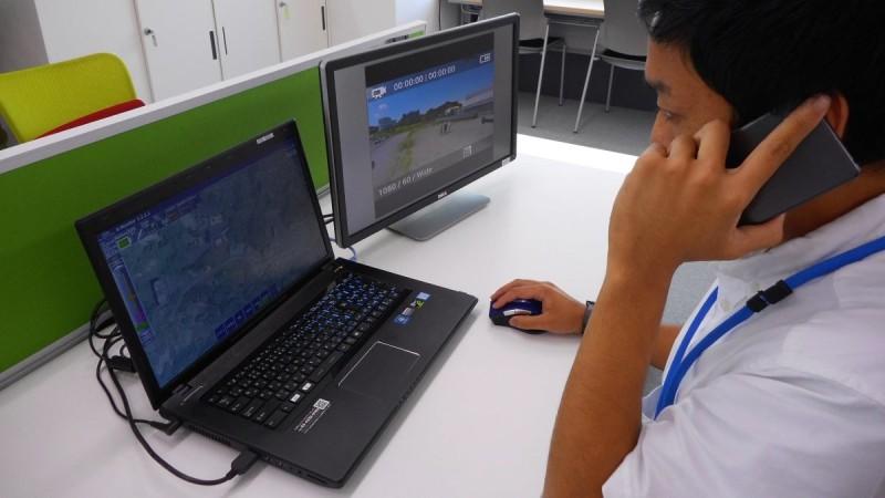 ASCL MS-06LA-15 經 NTT Docomo 4G 網絡飛行 - 千葉幕張控制中心