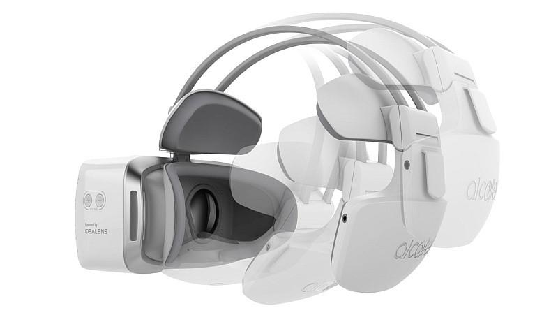 Alcatel Vision VR 眼鏡可因應使用者的頭部大小,作出適當的調校。