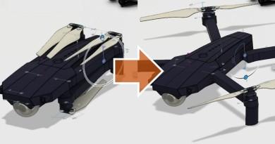 DJI Mavic 無人機這麼小巧,全因有特別的摺疊技巧
