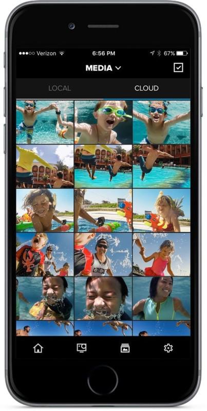 GoPro CaptureMobile app - Media