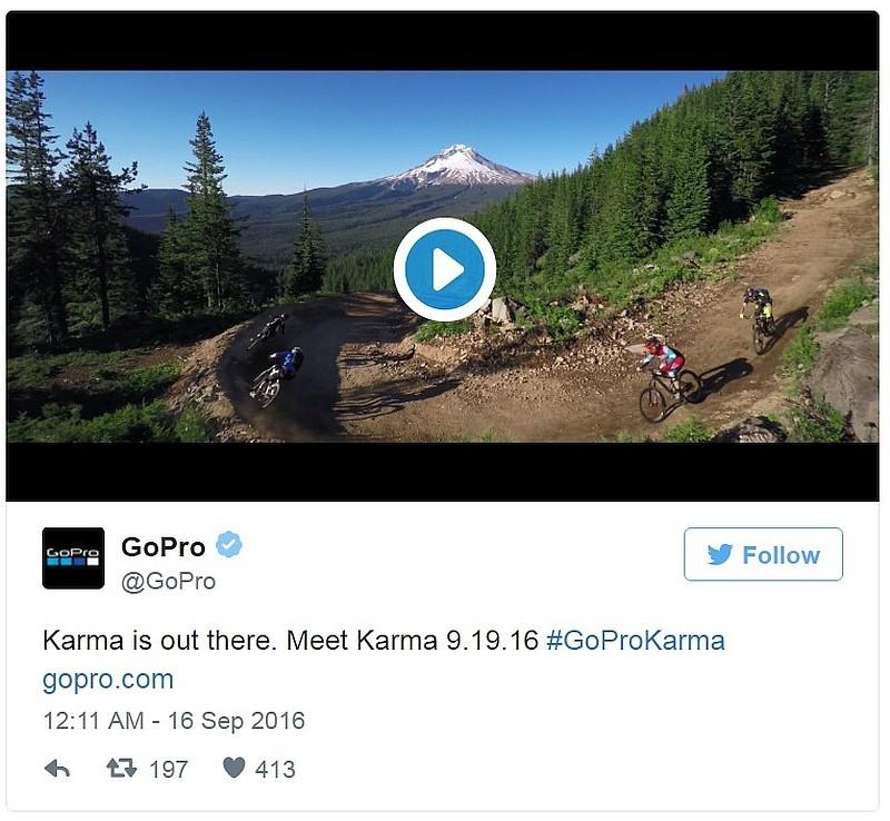GoPro 在 2016 年 9 月 15 日於官方 YouTube 頻道釋出《GoPro: Karma Is Out There》宣傳片後,隨即在翌日於官方 Twitter 帳戶轉貼有關短片。