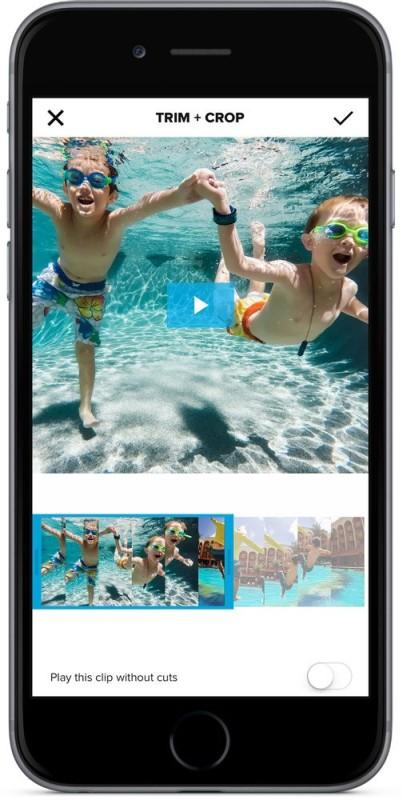 GoPro QuikMobile app -Trim