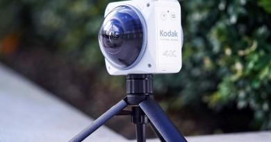 Kodak PixPro 4KVR360 機身前後雙鏡頭 360度影像無縫接合