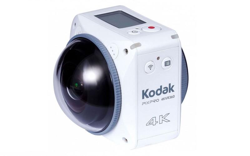 Kodak 4KVR360 機頂配備液晶屏幕,用作顯示拍攝資訊。