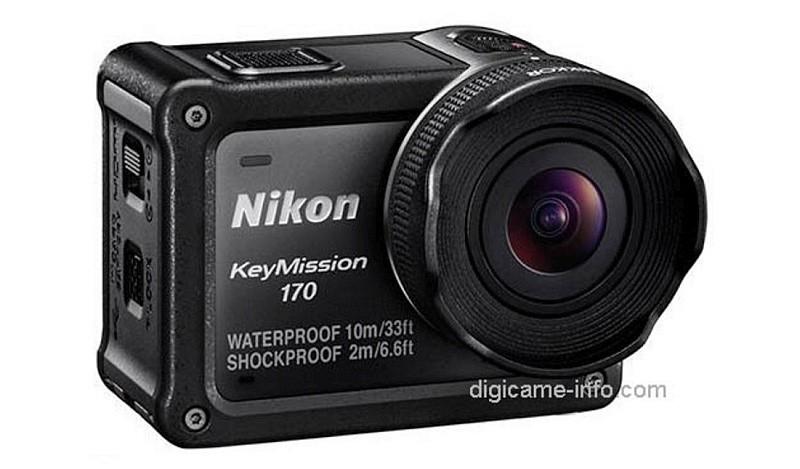 Nikon KeyMission 170 設有一支 170 度超廣角的 F2.8 光圈鏡頭