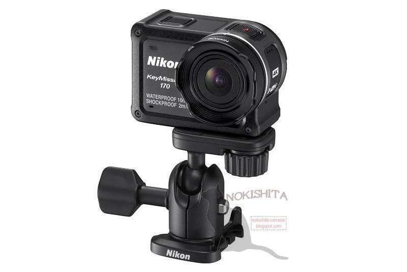 Nikon KeyMission 170 另有雲台配件,可供安裝在相機三腳架上。