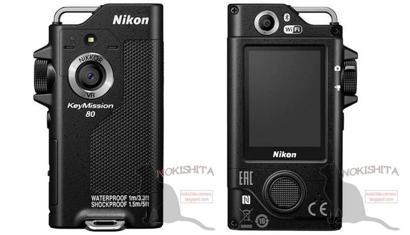 Nikon KeyMission 80 機身前後設有主、副鏡頭。位於正面的主鏡頭可提供 80 度視角和 1,240萬拍攝像素。機身背面的副鏡頭和屏幕下方設有快門鍵,操作方式跟智慧型手機相近。
