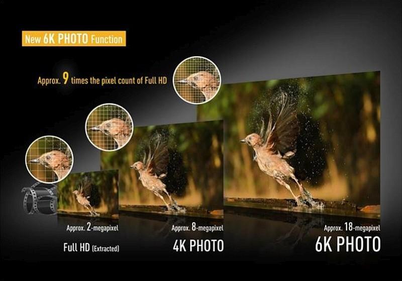 Panasonic LUMIX GH5 具有「6K Photo」拍攝模式,能夠從每秒 30 幀畫格中,擷取出約 1,800 萬像素的 6K 級數相片。