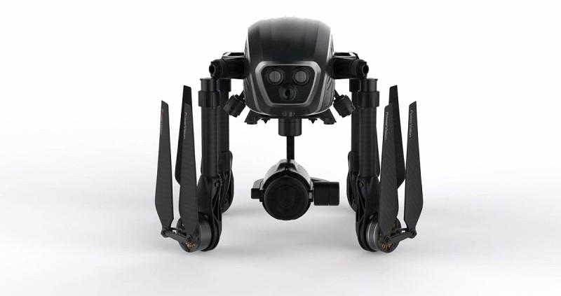 為了方便收藏和攜帶,PowerEye 空拍機採用折疊式設計,可將四支軸臂摺疊收起,並拆卸起降架。