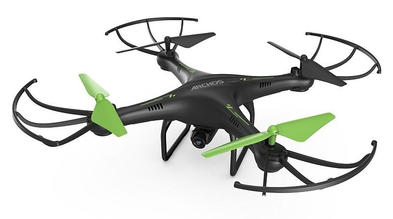 Archos Drone 機底掛載 100 萬像素航拍相機,可錄製 720p @ 20fps 高清影片。