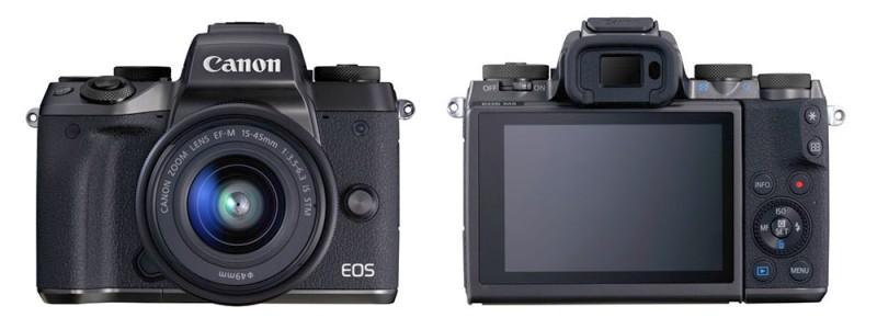 Canon EOS M5 機身正面和背面