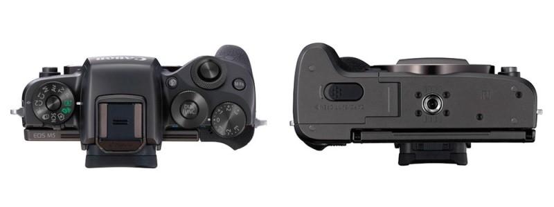 Canon EOS M5 機身頂部和底部