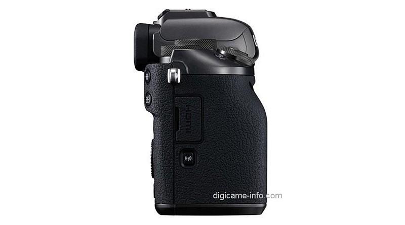 疑似 Canon EOS M5 機身右側。(圖片來源:翻攝自 Digicame-Info)