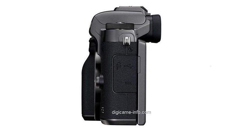 疑似 Canon EOS M5 機身左側。(圖片來源:翻攝自 Digicame-Info)