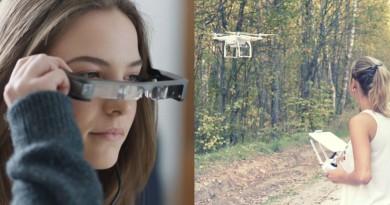 DJI 夥拍 Epson 用 Moverio BT-300 AR 眼鏡玩空拍