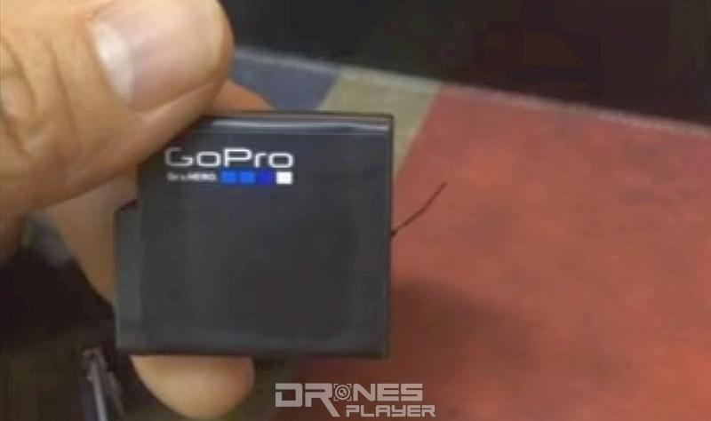 網路流傳的 GoPro Hero 5 充電池諜照。電池表面印有 GoPro 標誌,電池容量為 1,220 mAh。