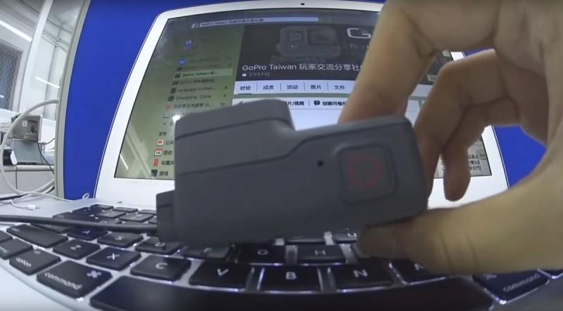 GoPro Hero 5 運動相機機頂設有快門鍵。
