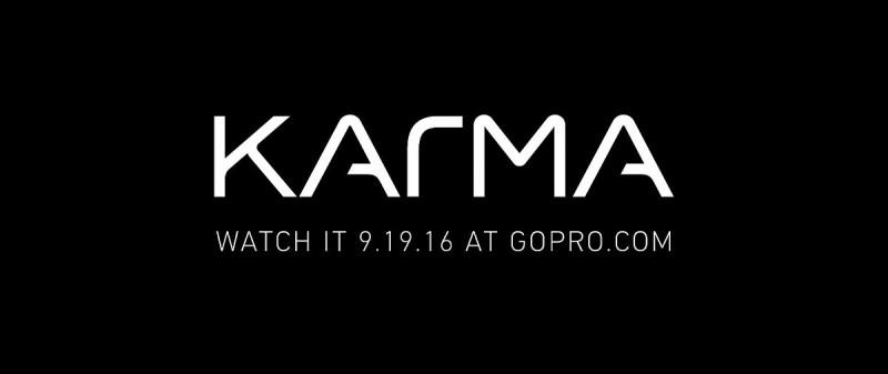 最後的黑色畫面顯現「Karma」標誌和「WATCH IT 9.19.16 AT GOPRO.COM」標語。