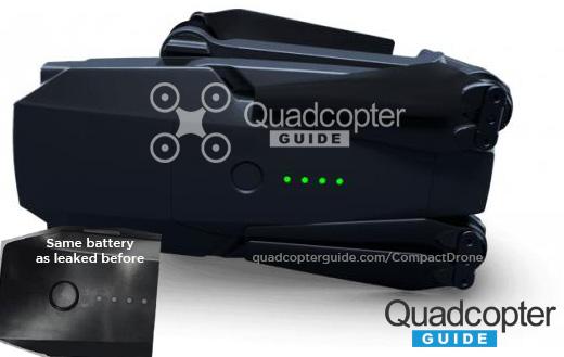 無人機頂部的電池部分符合過往流出照片。(圖片來源:翻攝自 Quadcopter Guide)