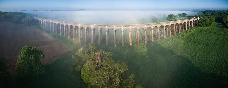 愛爾蘭 Donegal 大橋的空拍圖