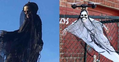 萬聖節嚇人新玩法!無人機裝上骷髏人偶變 Halloween Drone