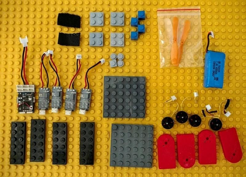 Digital Sky Mini 無人機除了電子零件外,機身、飛行框架等配件全部由 LEGO 積木裝嵌,過程中無需焊接和黏合劑接合。