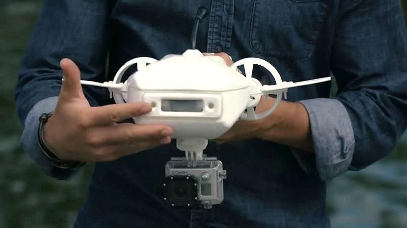 除機首的 FPV 視像鏡頭外,Fathom One 底部亦可加裝 GoPro 運動相機,以拍攝更高質的畫面。