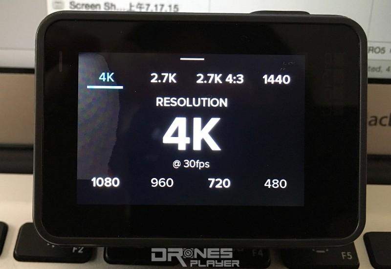 HERO 5 Black 最高可支援 4K @ 30fps 拍片。