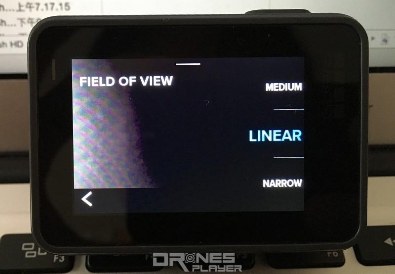 用戶只在「Field Of View(FOV)」頁面中選取[Linear],即可拍出沒彎曲變形的影像。