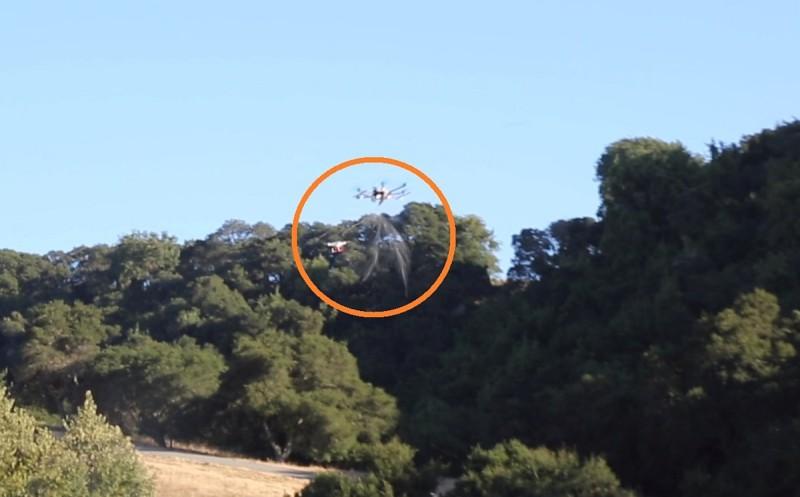 One Touch Interceptor TI 噴射繩網捕捉目標無人機的精彩一刻。