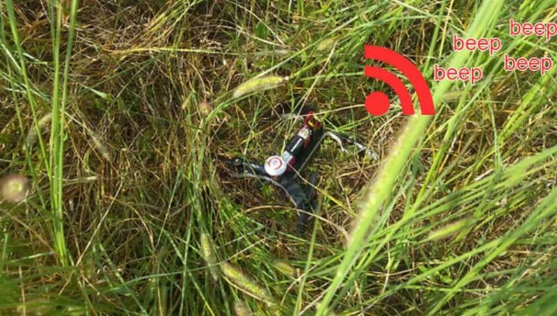 處於低電壓狀態時,VIFLY R220 便會不斷發出「beep」聲響,就算墜落於草叢也可讓人找到。