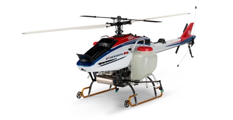 Yamaha Fazer R 農用無人機機身兩側設有儲液缸,可攜帶 32 公升藥劑。