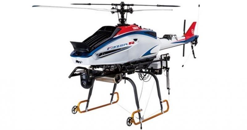 Yamaha Fazer R G2 商用無人機機底掛載一部航拍相機,可執行空中測繪任務,同時又具備運送貨件的能力。