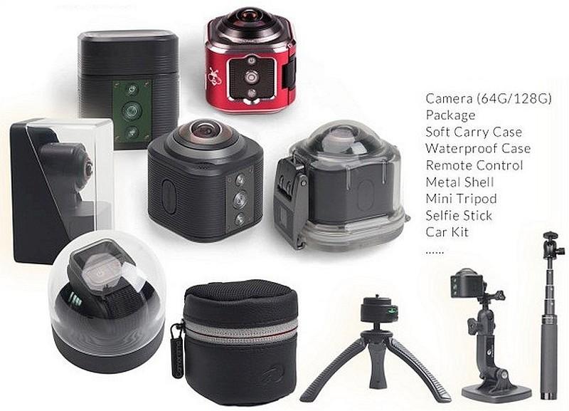 Camorama 配件陣容豐富,包括:防水外殼、遙控器、小型三腳架、自拍棒等,以應付不同拍攝環境。