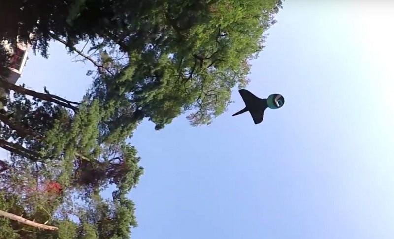 AER 可在空中滑翔飛行,從而拍出近似航拍的影像。