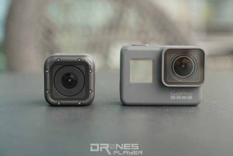 HERO 5 Session 比 HERO 5 Black 體積小一半左右