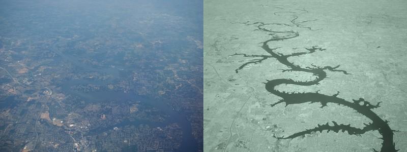 紅外線攝影可讓用戶拍出具獨效效果的照片:左圖為正常拍攝影像,右圖為紅外線拍攝影像。