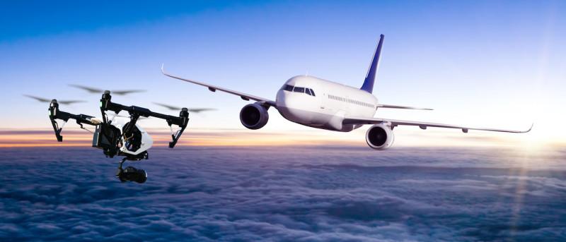 無人機 測試 民航機 相撞