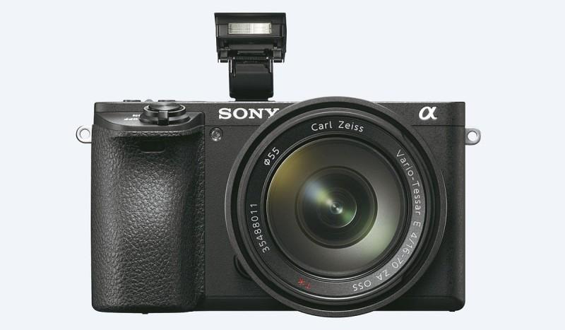 Sony A6500 本身內置閃光燈。