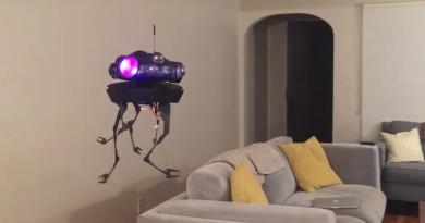 星戰迷自製 Imperial Probe Droid 無人機 空中飄浮形態詭異