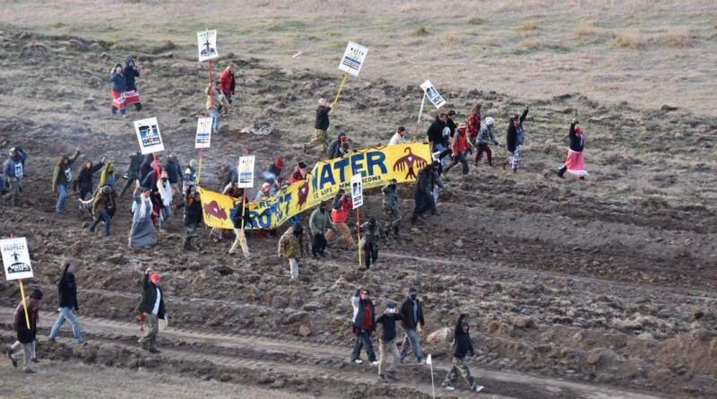 us protest drone1 美國 北達科他州 示威 無人機 開槍