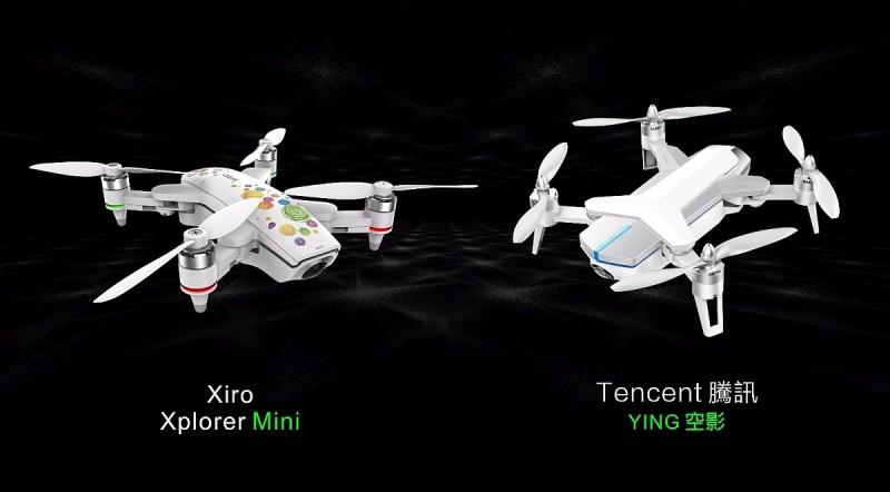 Xiro Xplorer Mini 與騰訊空影 YING 同是折疊式四軸無人機,基本硬體規格亦幾近一致。