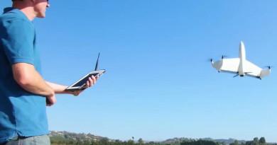 AeroVironment Quantix 定翼機垂直升降 遙控器似平板電腦!