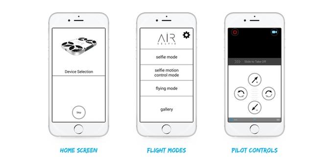 AirSelfie 專用 app 備有《Android》及《iOS》版本,提供 3 款操控模式。