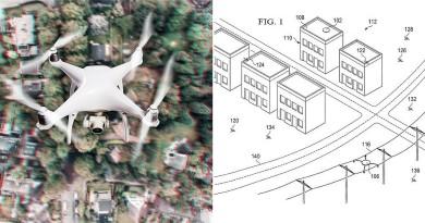 波音新專利:電纜桿上設停泊基站,讓無人機充電•補給•避雨