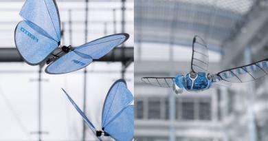 仿生蝴蝶撲翼疑幻似真 遙控蜻蜓展現複雜飛行特性