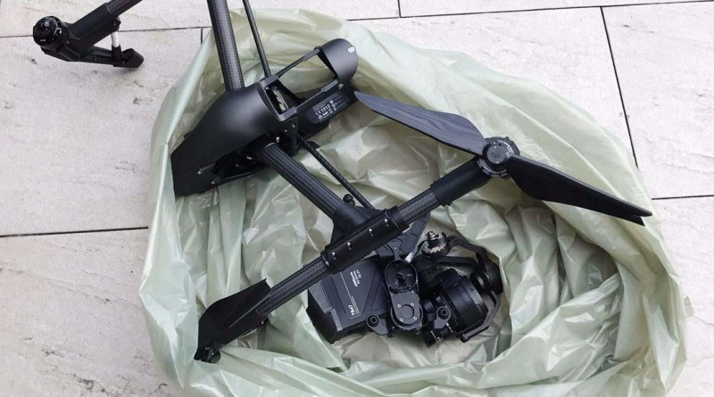 DJI Inspire Pro Black 撞擊台北 101(照片來源:鄭大為)