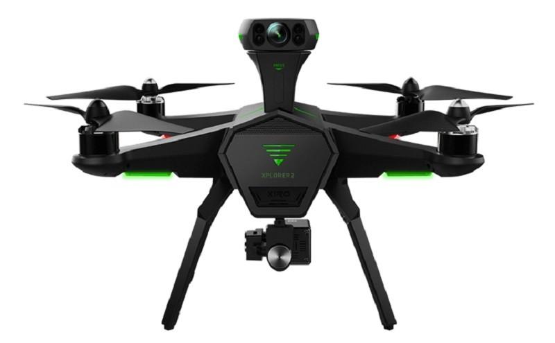 Xiro Xplorer 2 採用 TOF 感知技術來實現避障功能,飛行器背部的柱狀裝置頂端,正是用作 TOF 測距的感測器。