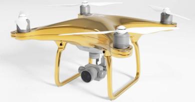 DJI Phantom 4 空拍機 24K 金身加持!超閃亮版 2 萬英磅開賣