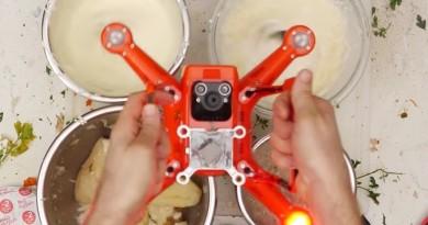 無人機變感恩節料理神器!槳翼切碎食材•馬達攪拌忌廉